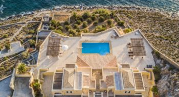 Drone view of villa