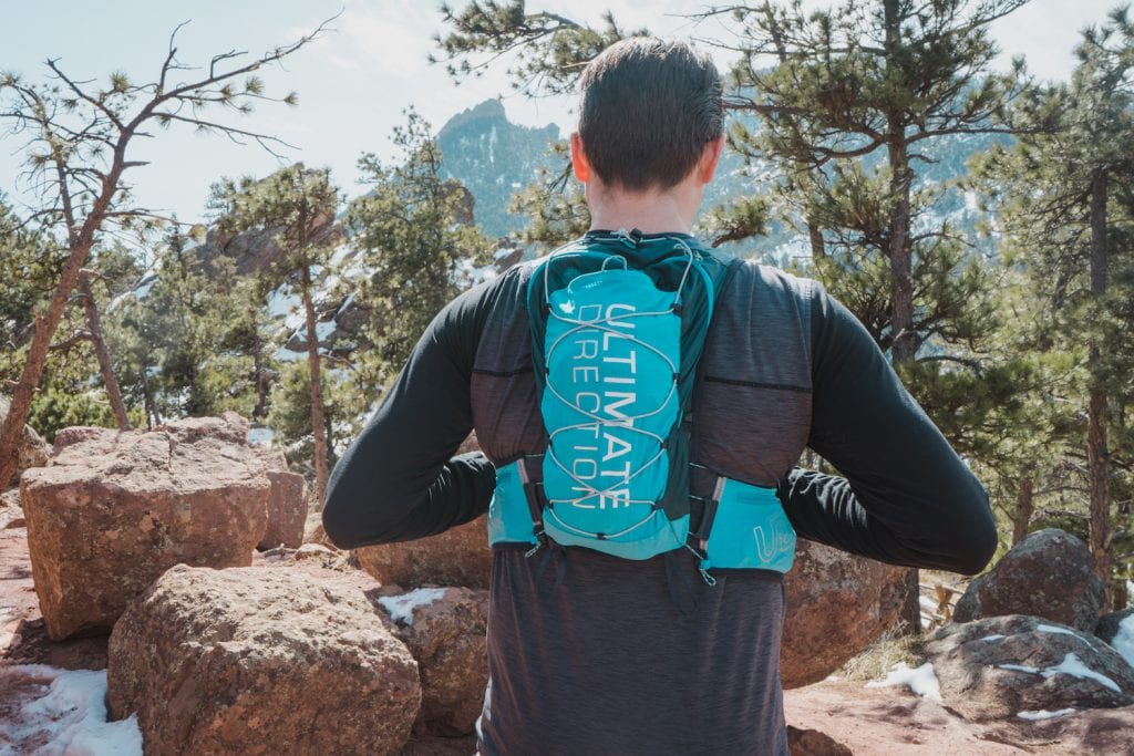 Huck Adventures Review of the Ultimate Direction Mountain Vest 4.0